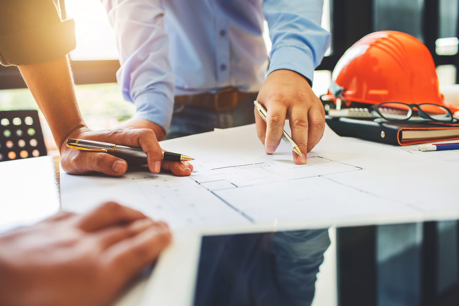 Chartered Architect Cardiff | Architecture engineering teamwork meeting | David A Courtney Architect